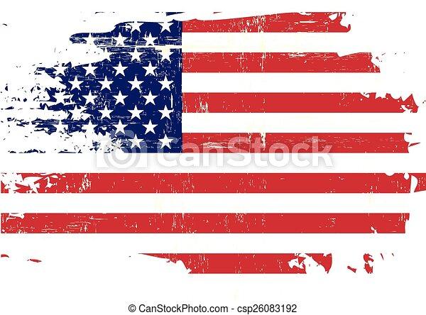 arranhado, bandeira, nós - csp26083192