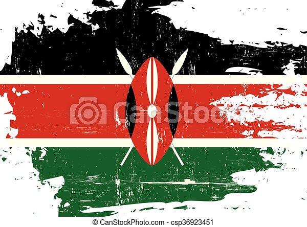 arranhado, bandeira quênia - csp36923451