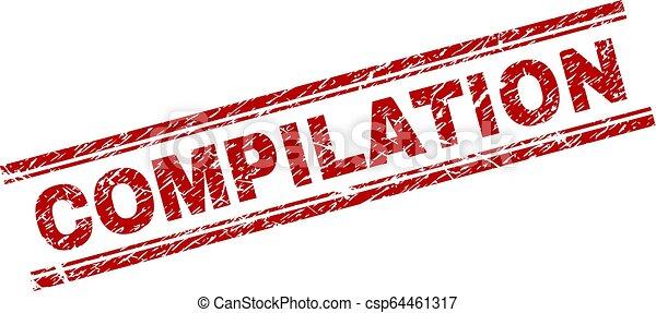 arranhado, selo, compilação, textured, selo - csp64461317