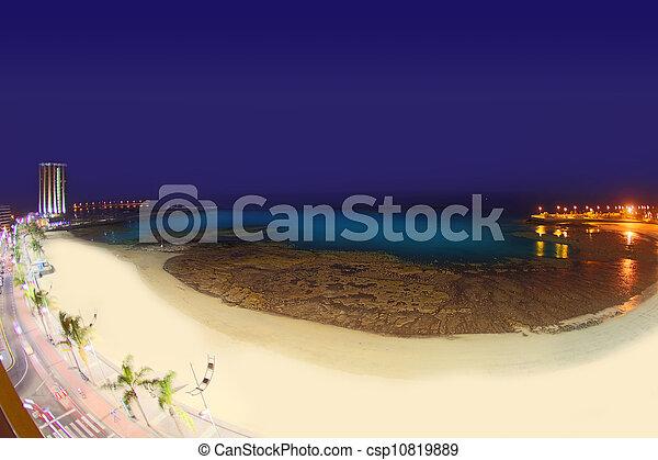 Arrecife Lanzarote Playa del Reducto beach - csp10819889