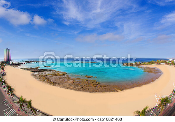 Arrecife Lanzarote Playa del Reducto beach - csp10821460