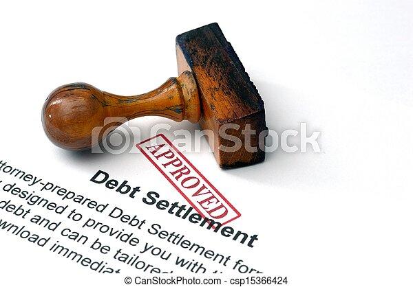 Un acuerdo de deuda - csp15366424