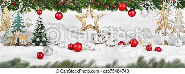 arreglo, invierno, navidad - csp75484743