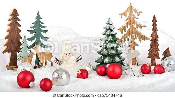 arreglo, invierno, navidad - csp75484746