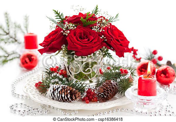 Un arreglo navideño - csp16386418