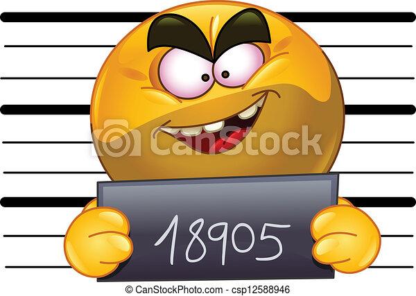 Arrested emoticon - csp12588946