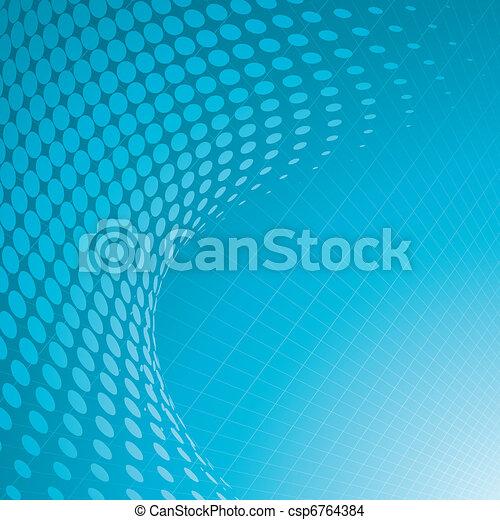 arrière-plan bleu, halftone - csp6764384