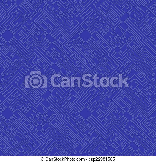 arrière-plan bleu, résumé, bo, -, élevé, vecteur, technologie, circuit, puce - csp22381565