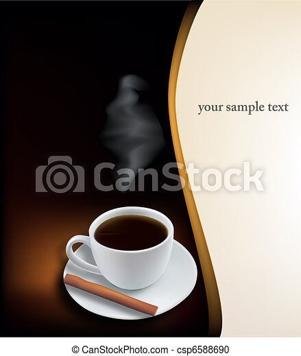arrière-plan., café, noir, tasse - csp6588690