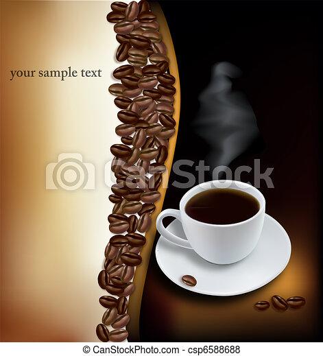 arrière-plan., café, noir, tasse - csp6588688