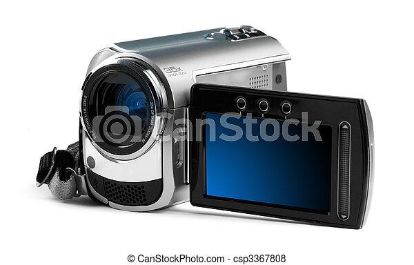 arrière-plan., clair, caméscope, contre, numérique - csp3367808