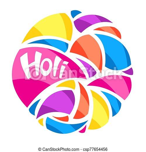 arrière-plan., coloré, holi, heureux - csp77654456