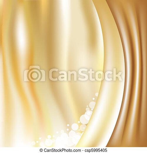 arrière-plan doré, étoiles - csp5995405