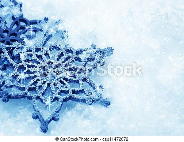 arrière-plan., flocons neige, neige, hiver - csp11472072