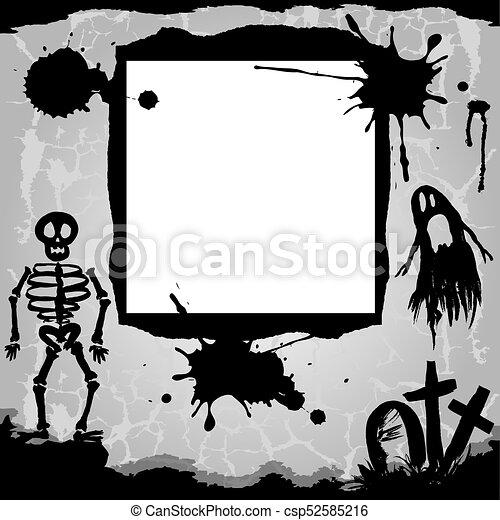 arrière-plan., halloween - csp52585216