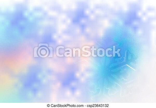 arrière-plan., hiver, flocons neige - csp23643132