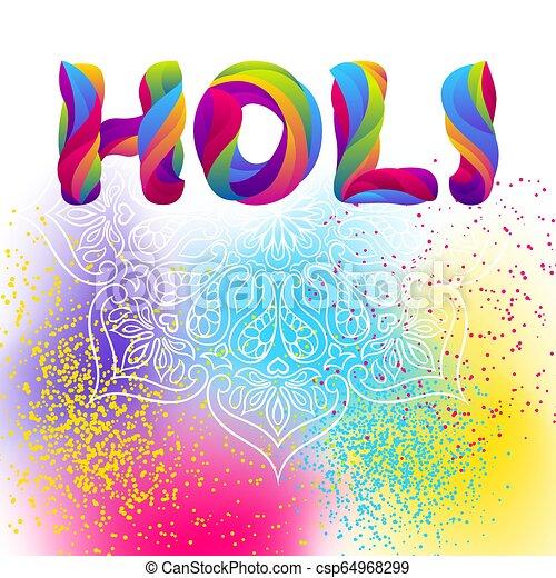 arrière-plan., holi, coloré, heureux - csp64968299