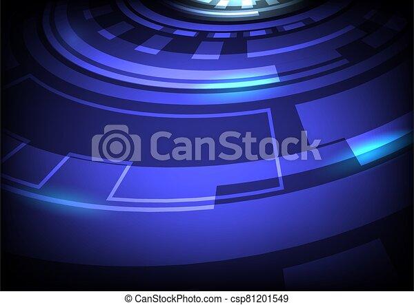 arrière-plan numérique, résumé, hitech, technologie, bleu, vecteur - csp81201549