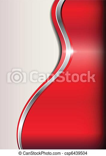 arrière-plan rouge, business, résumé - csp6439504