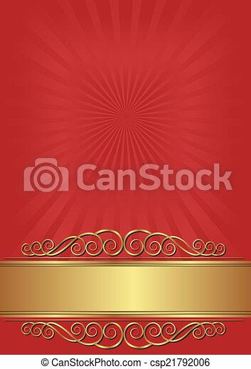 arrière-plan rouge - csp21792006