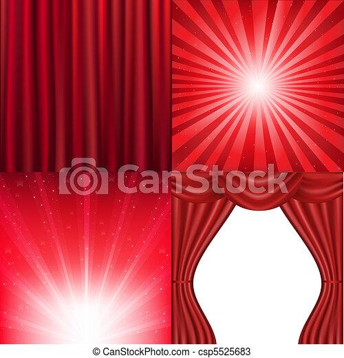 arrière-plan rouge - csp5525683