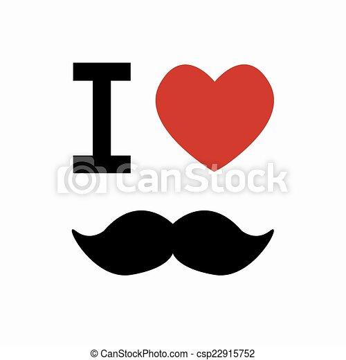 arrière-plan., simbol, vecteur, blanc, moustache - csp22915752
