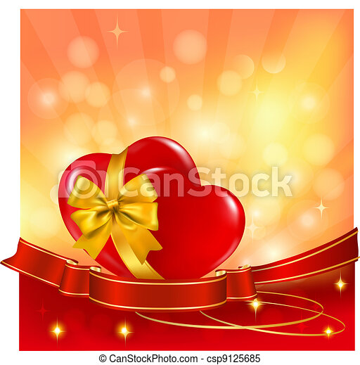 arrière-plan., valentineçs jour - csp9125685