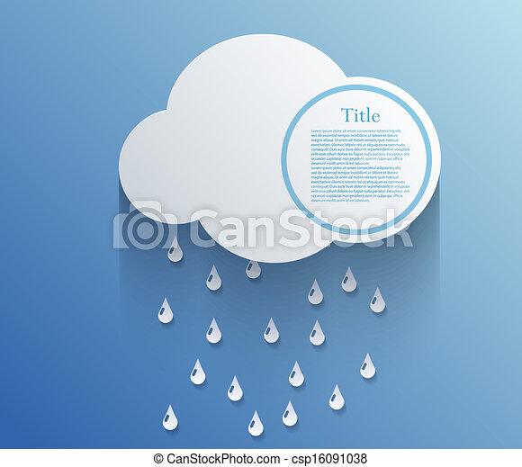 arrière-plan., vecteur, eps10, nuage - csp16091038