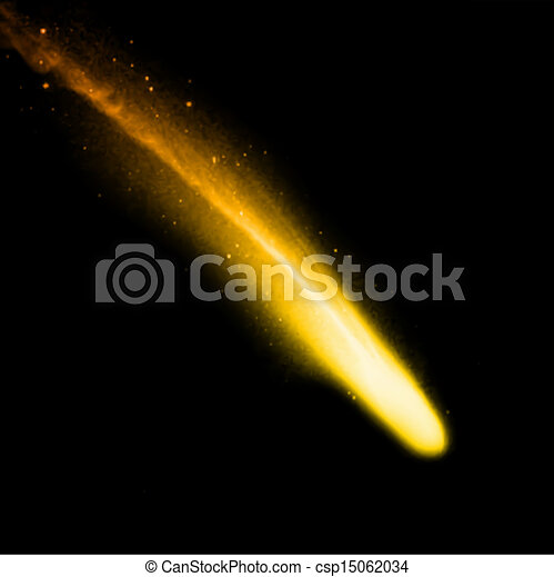 arrière-plan., vecteur, noir, comète - csp15062034