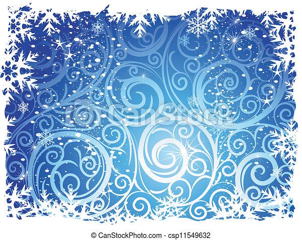 arrière-plans, hiver - csp11549632