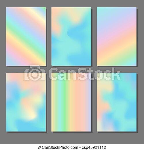 arrière-plans, holographic, ensemble - csp45921112