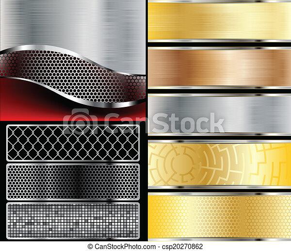 arrière-plans, métallique - csp20270862