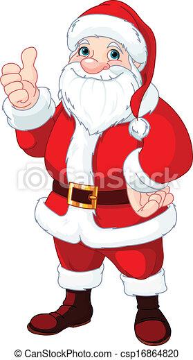 Pulgares hasta Santa Claus - csp16864820