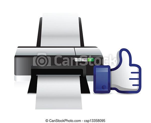 Los pulgares de impresora parecen ilustraciones - csp13358095