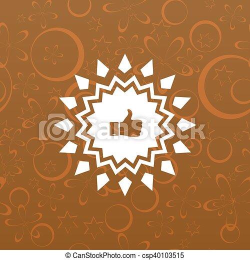 Placa con pulgares arriba - csp40103515