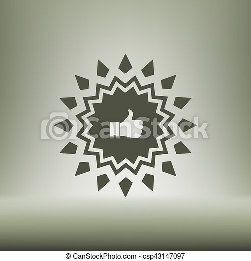 Placa con pulgares arriba - csp43147097