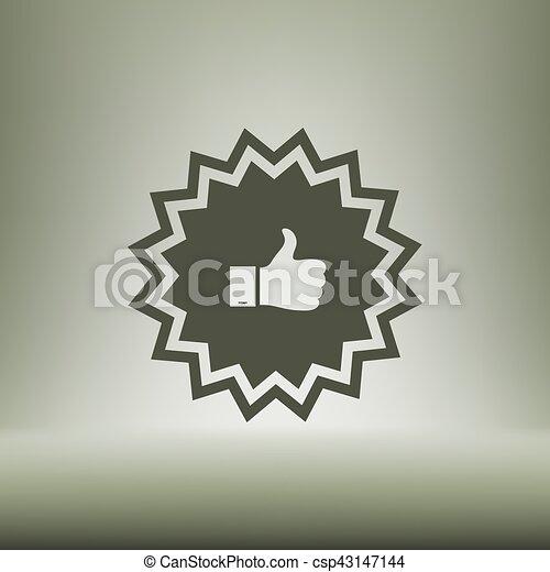 Placa con pulgares arriba - csp43147144