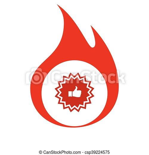 Placa con pulgares arriba - csp39224575