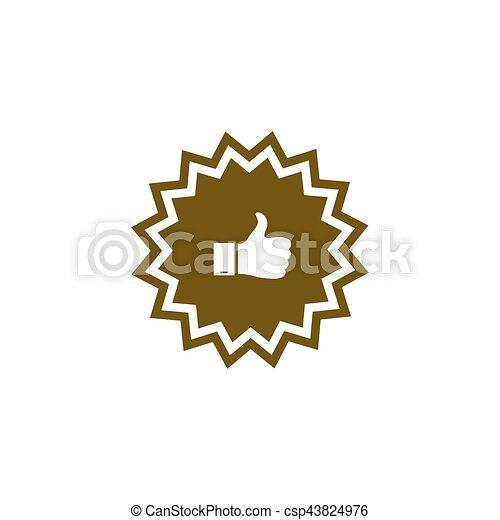 Placa con pulgares arriba - csp43824976