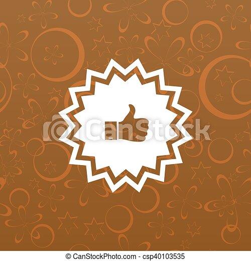 Placa con pulgares arriba - csp40103535