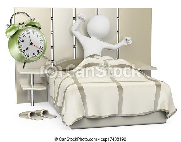 Blancos 3D. Buenos días. Despierta - csp17408192