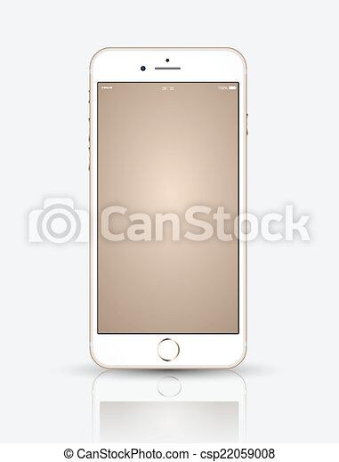Un smartphone dorado. - csp22059008