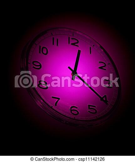 Cierra la vista del viejo reloj - csp11142126