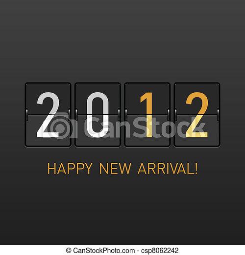 arrivée, nouvel an, 2012 - csp8062242