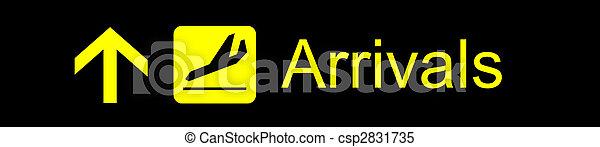Arrivals Sign - csp2831735