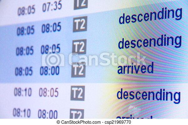 arrivo, aeroporto, volo, asse - csp21969770