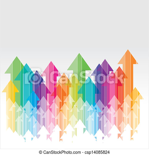 Avanzando arro transparente colorido - csp14085824