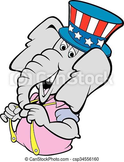 arrogant elephant vector cartoon art of the republican clip art rh canstockphoto com republican clipart free democrat republican clipart
