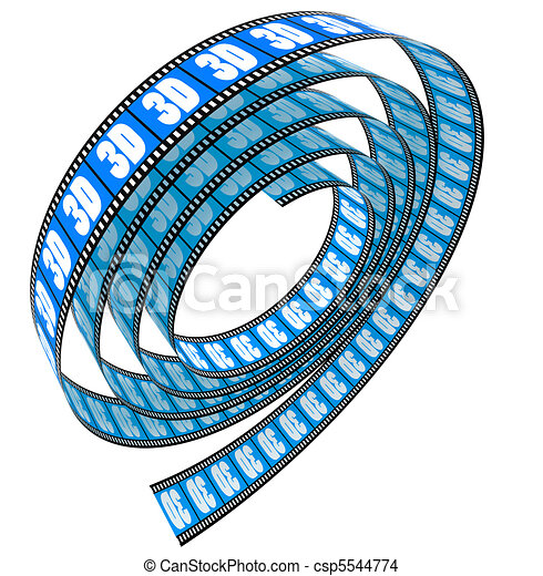 3d película rodada - csp5544774