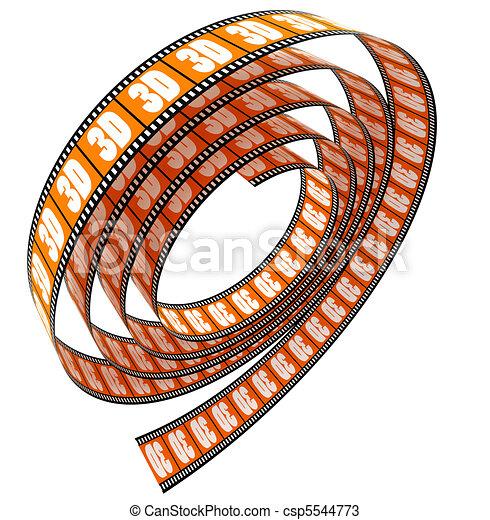 3d película rodada - csp5544773